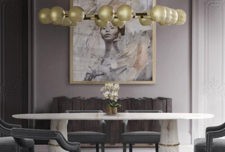 sala de jantar com mesa de mármore