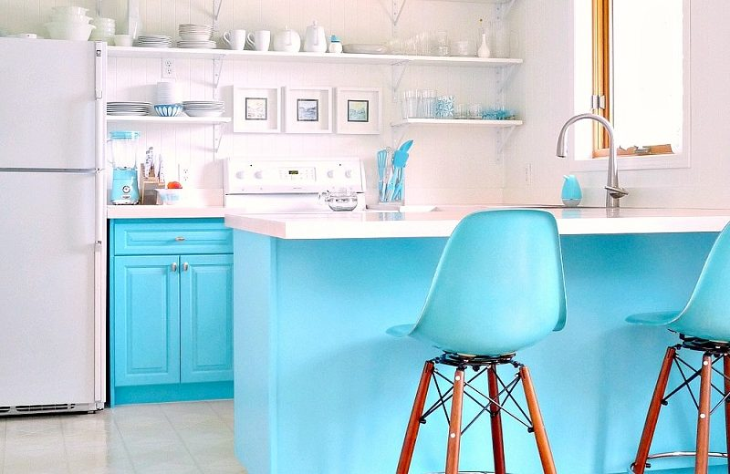 cozinha azul turquesa 2020