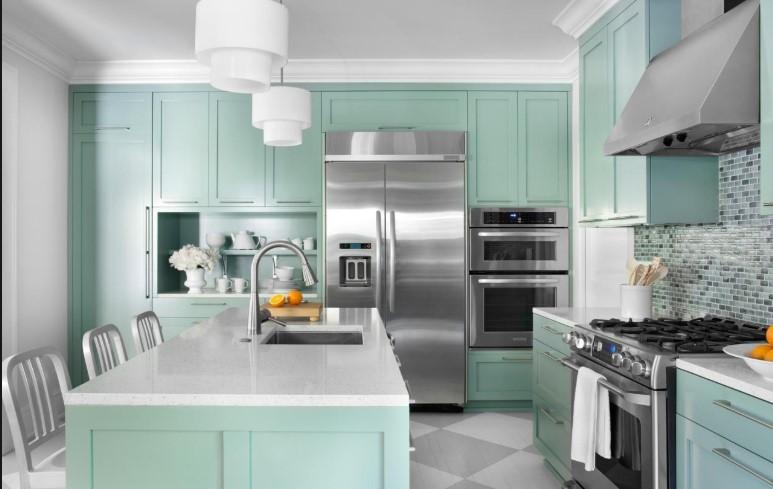 cozinha cor menta 2020