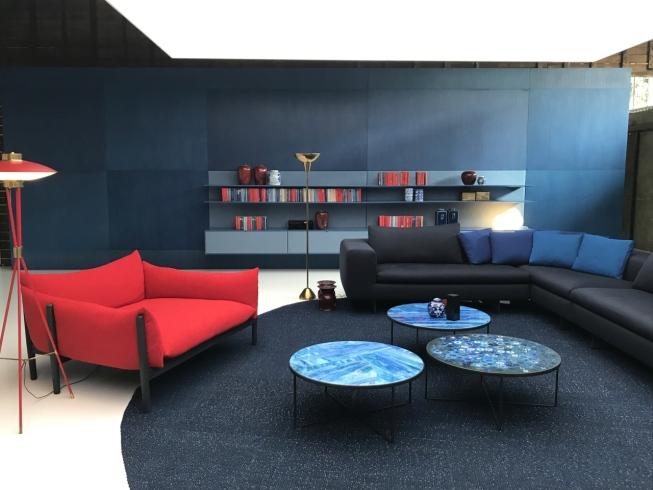 tapete redondo azul