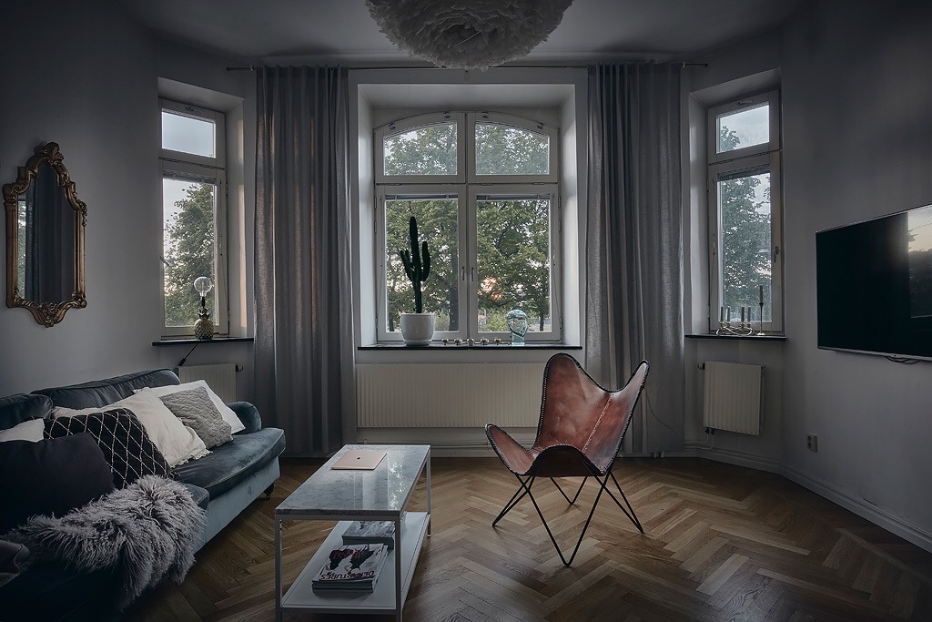 cortina para sala de estar