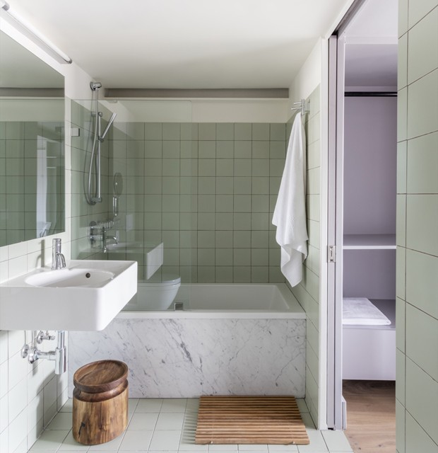 banheiro decorado neo mint