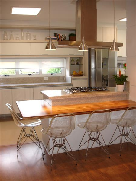 bancada de madeira cozinha americana