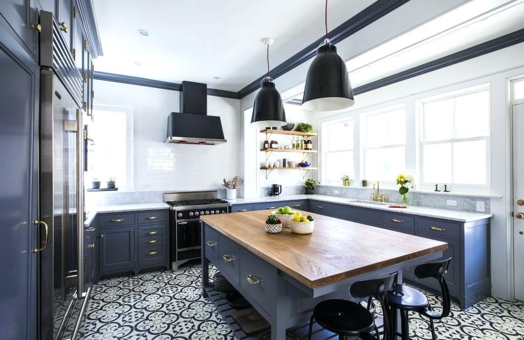 cozinha americana azul