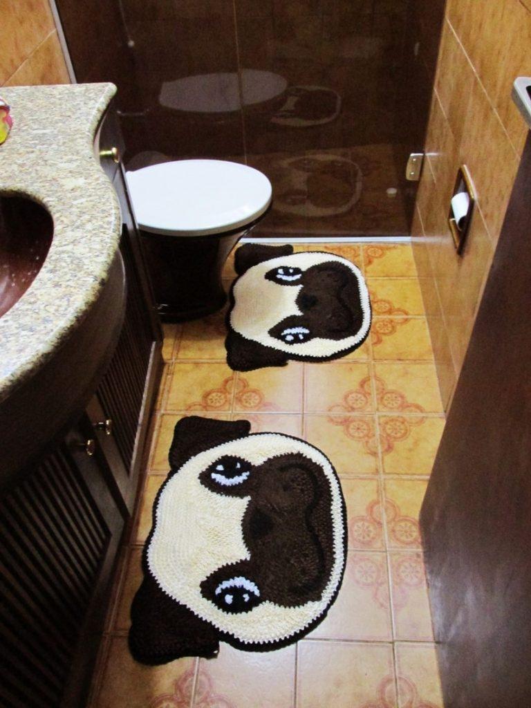 tapete de banheiro de cachorro