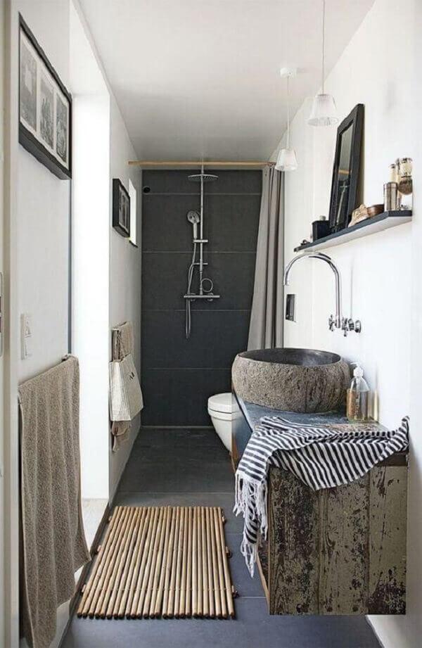 tapete de banheiro de bambu
