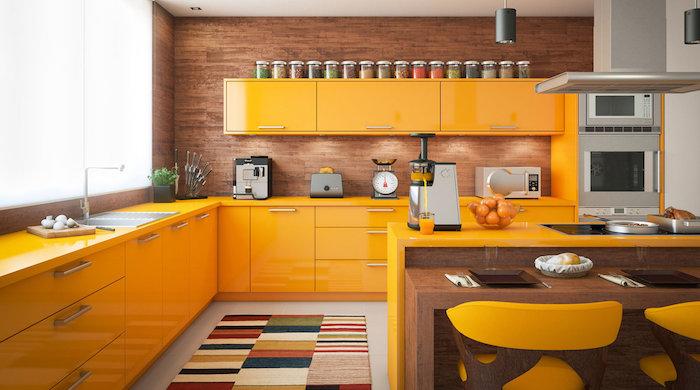 cozinha americana amarela