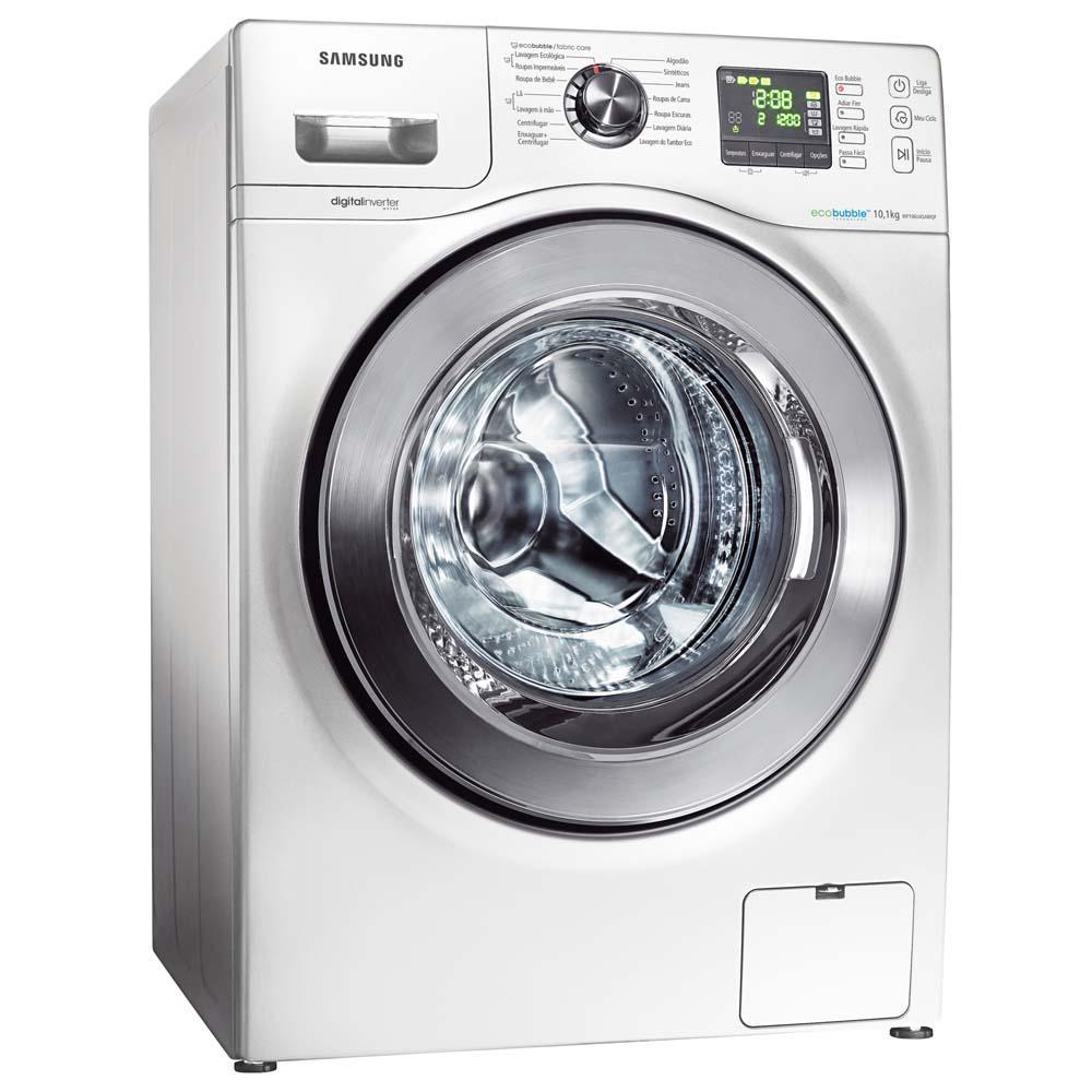 máquina de lavar samsung branca