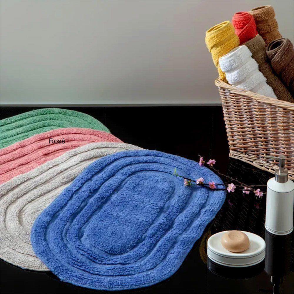 tapete de banheiro oval