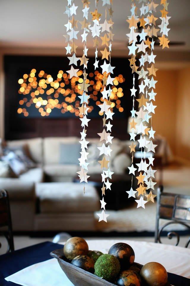 Confete de estrelas prateadas