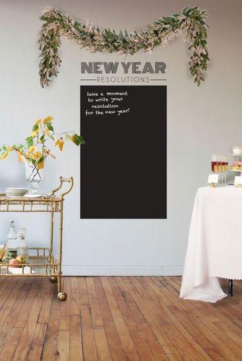 Quadro de promessas de Ano-Novo