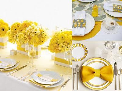 amarelo em decoração de ano-novo