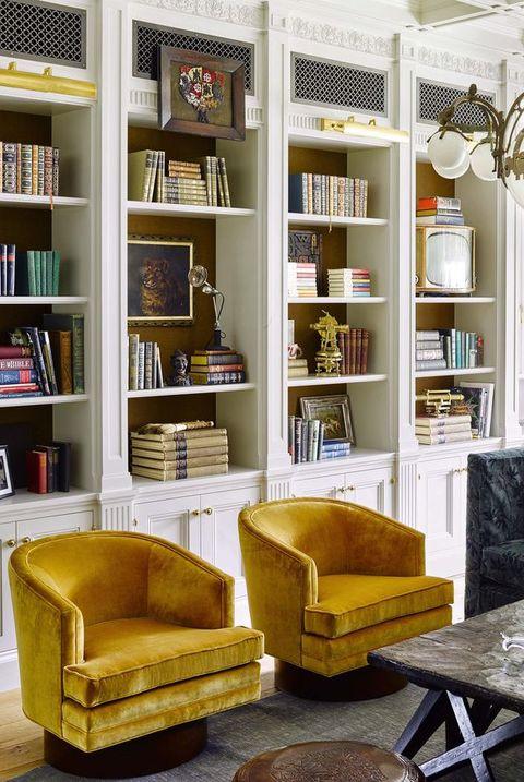 amarelo em destaque na decoração