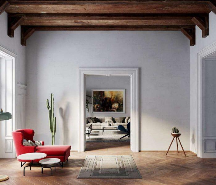 cinza como cor predominante na decoração
