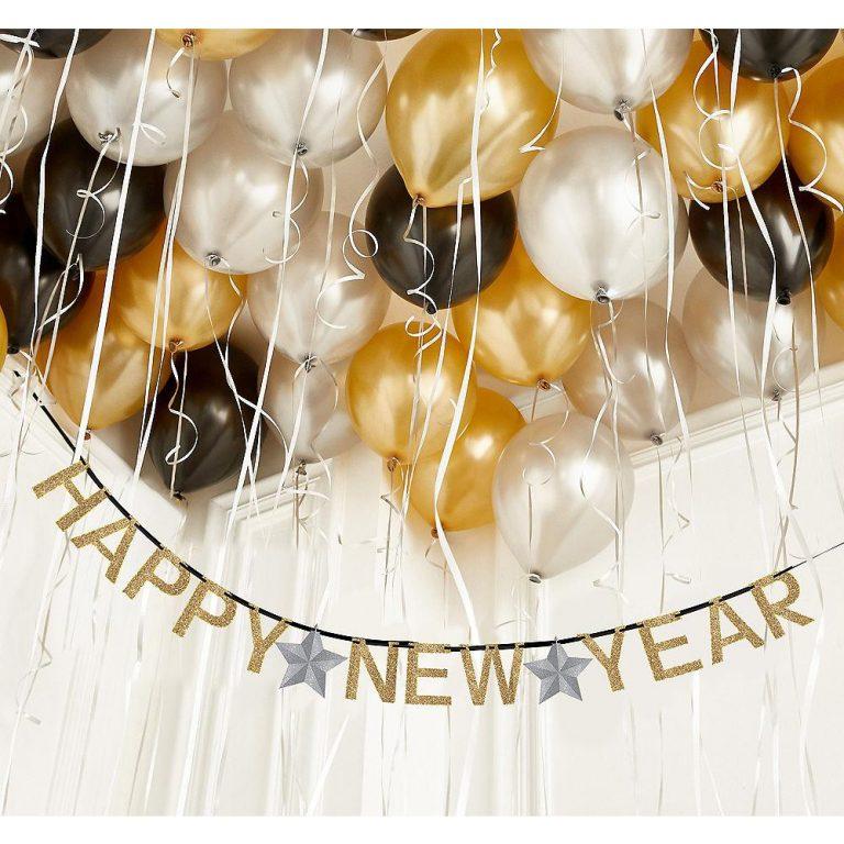 decoração de ano-novo com balões