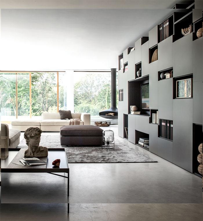 formas geométricas na sala de estar