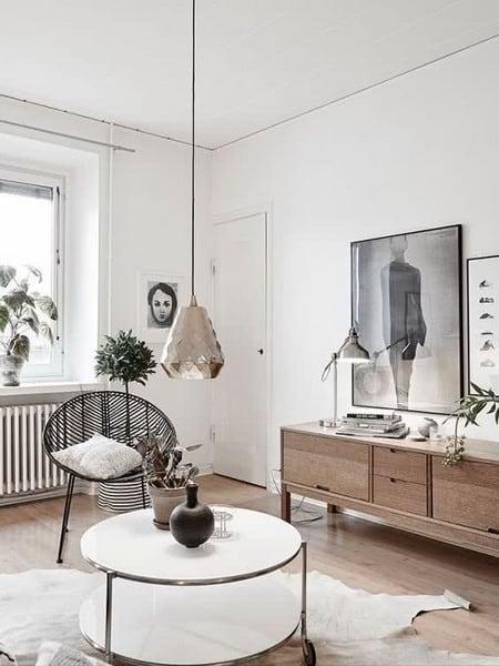 móveis com estilos nórdico e japonês