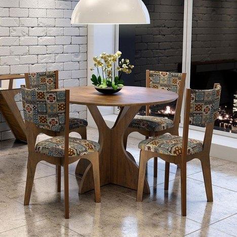 mesa redonda para sala de jantar