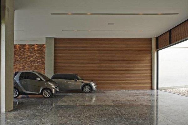 modelo de revestimento em garagem