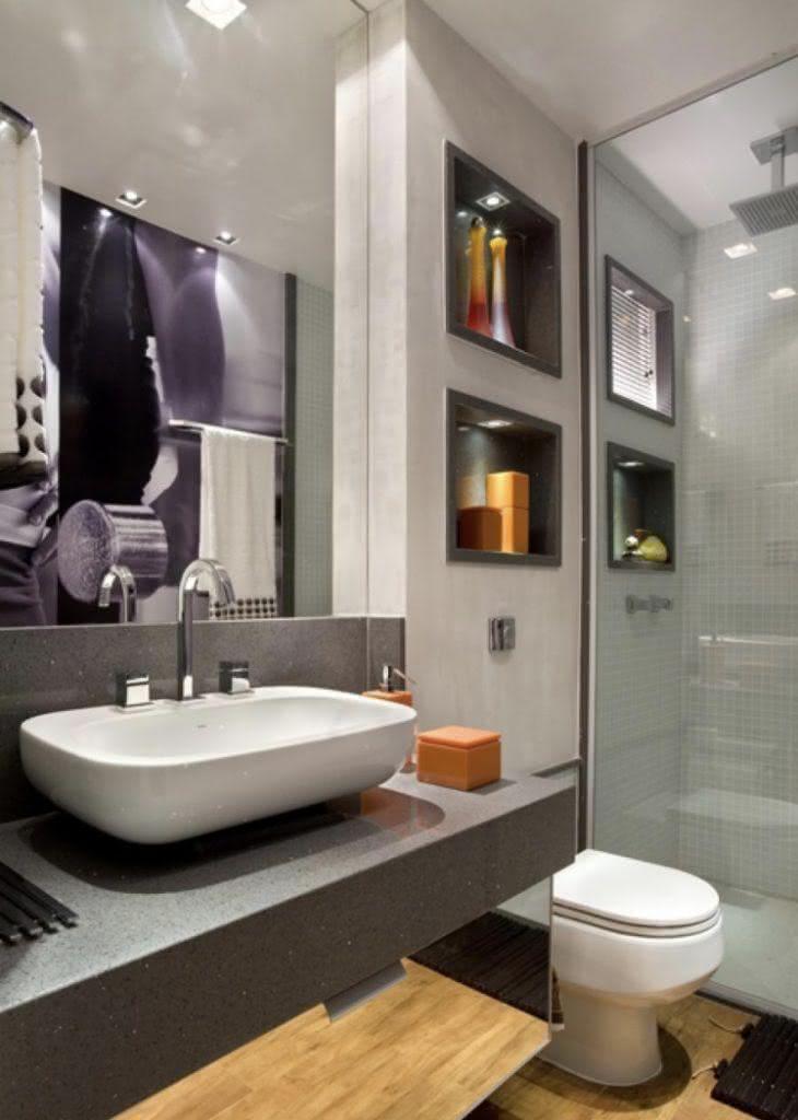nichos em banheiro