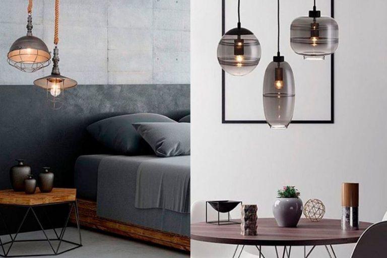opções de luminárias para a decoração