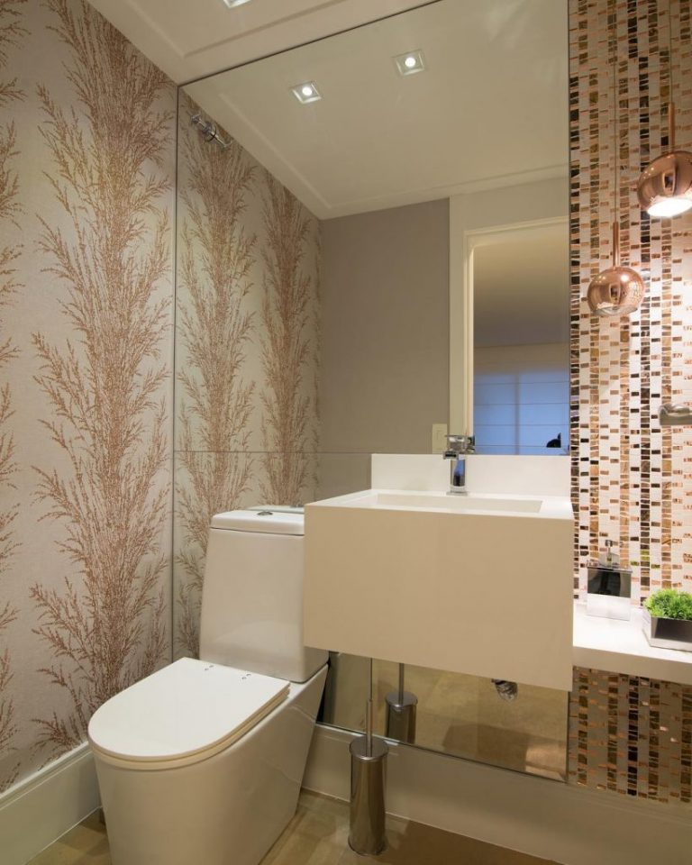 papel de parede em banheiro