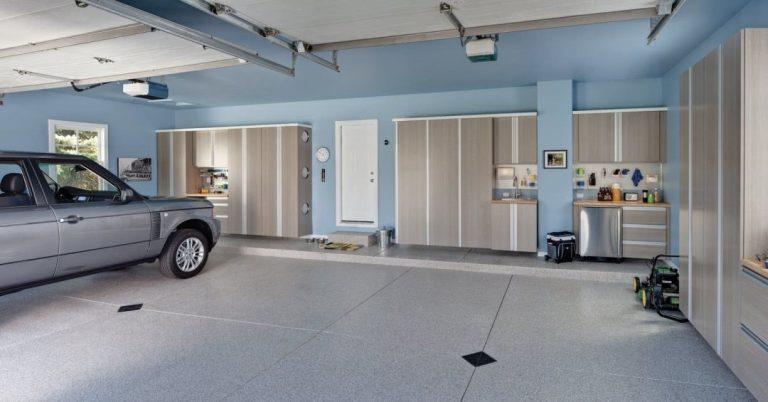 piso porcelatano em garagem