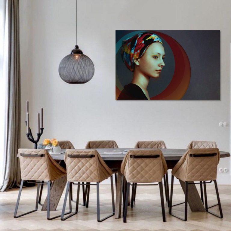 quadro em parede de sala de jantar