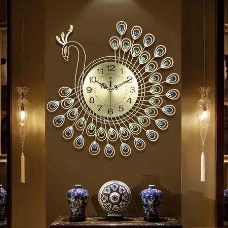 relógio em forma de pavão