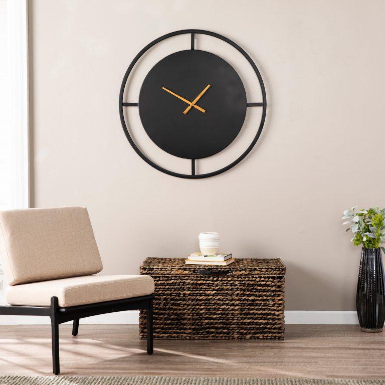 relógio moderno preto