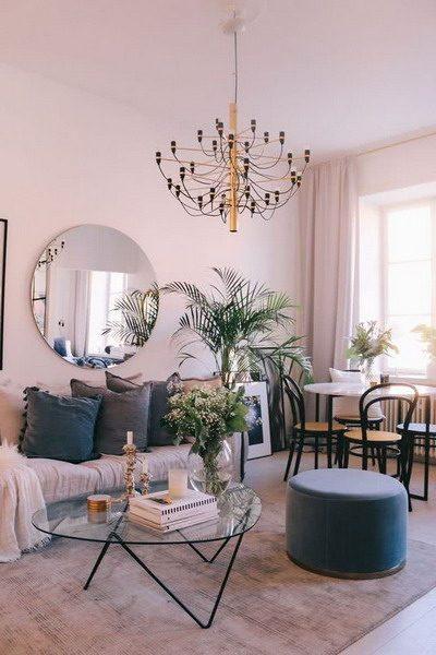sala com tonalidades claras