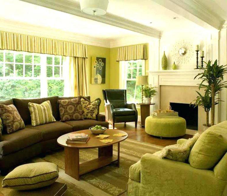 sala de estar com a cor verde como primária