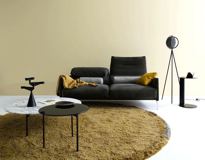 sala de estar com tons neutros