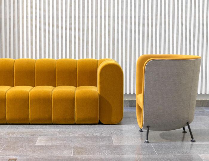 sala de estar estilo retrô modernizado