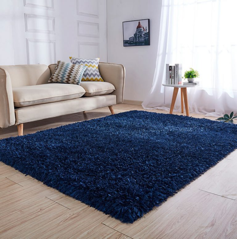 tapete retangular azul