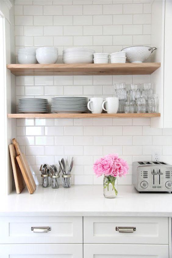 Azuleijo branco para cozinha