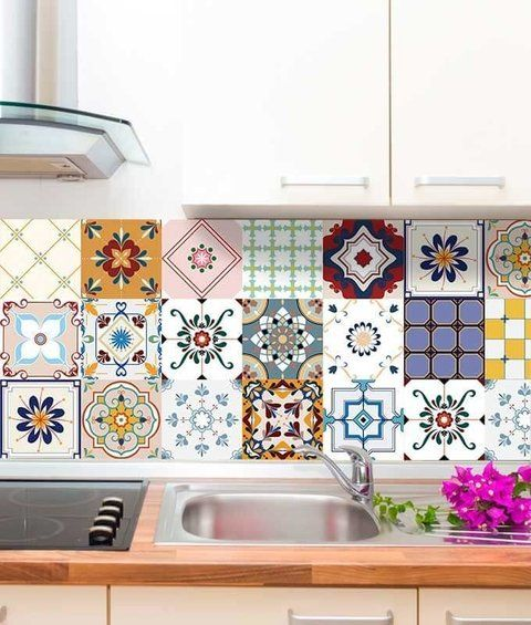 Azuleijo colorido para cozinha