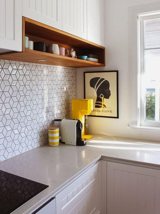 Azuleijo geométrico para cozinha