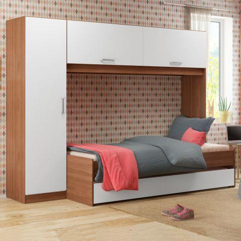 cama e armário infantis integrados