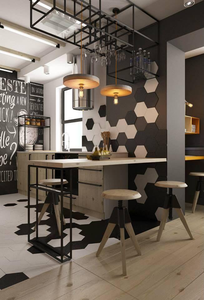 cozinha industrial estilosa