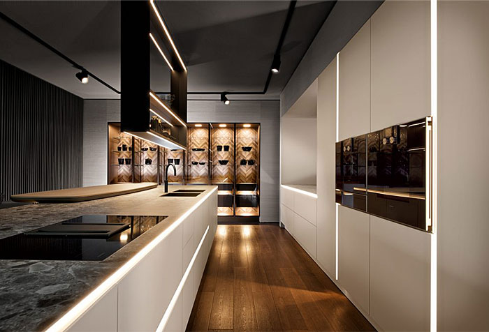 cozinha moderna com led