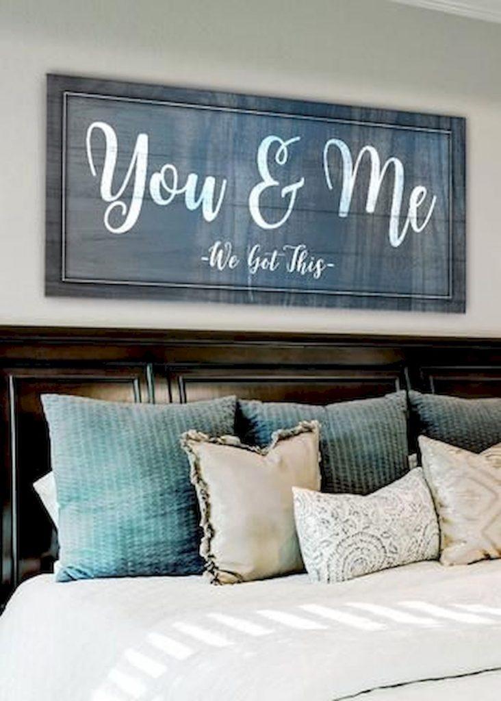 decoração de quarto de casal com quadro