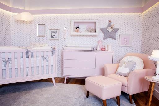decoração quarto de bebê sexo feminino