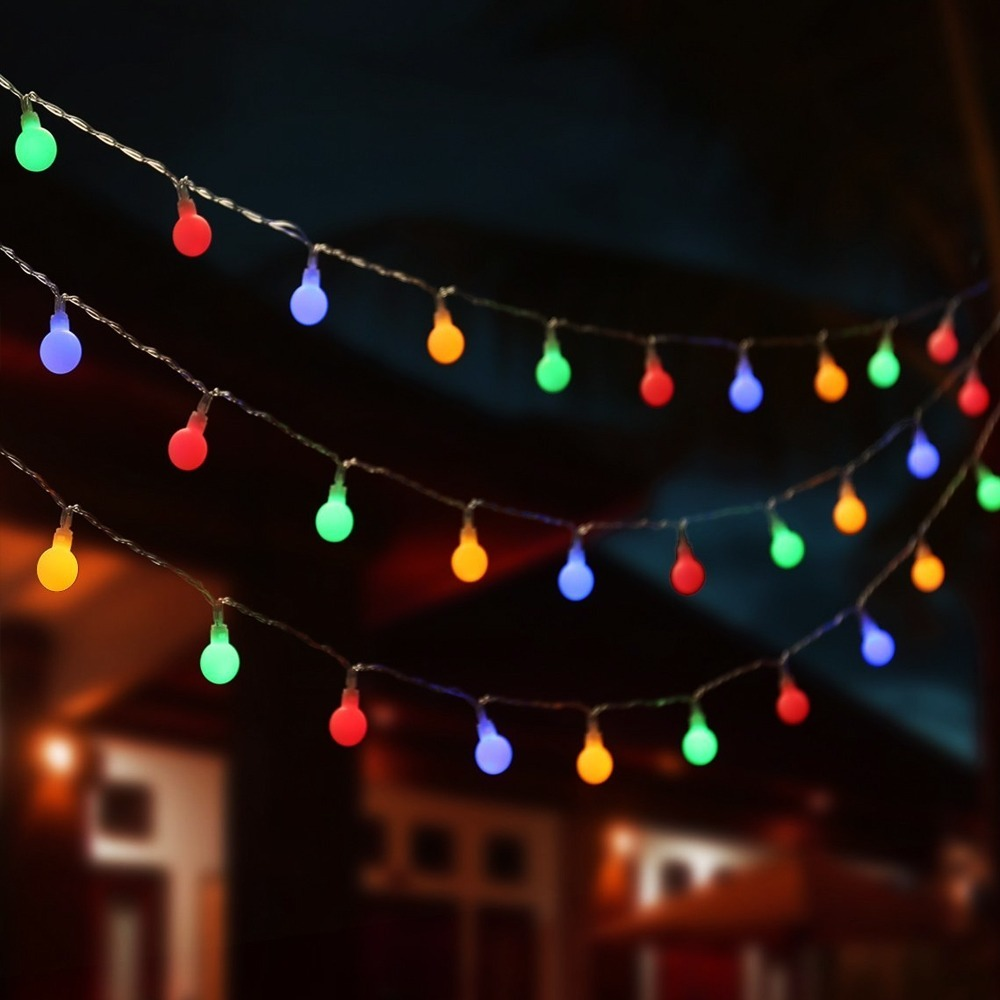Lâmpadas coloridas para iluminação externa