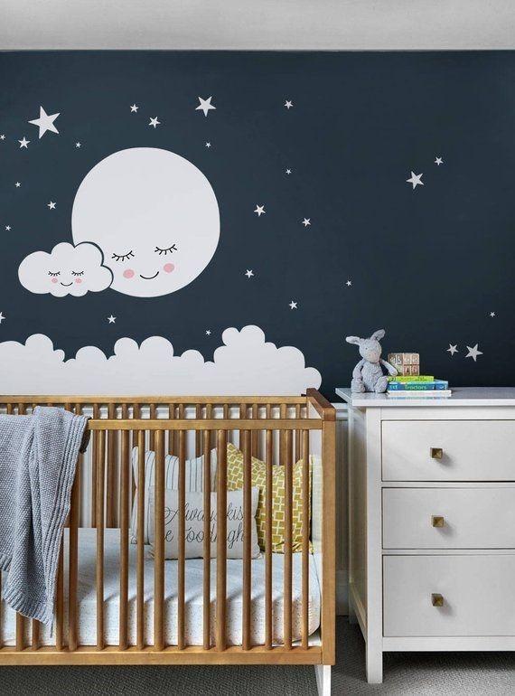 quarto de bebê com lua