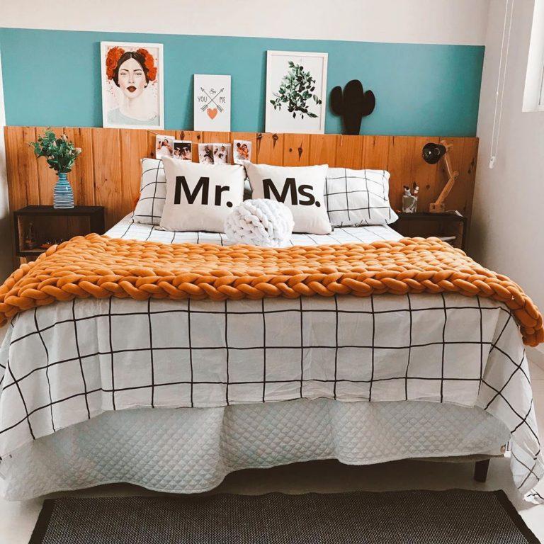 quarto de casal com maxi tricô