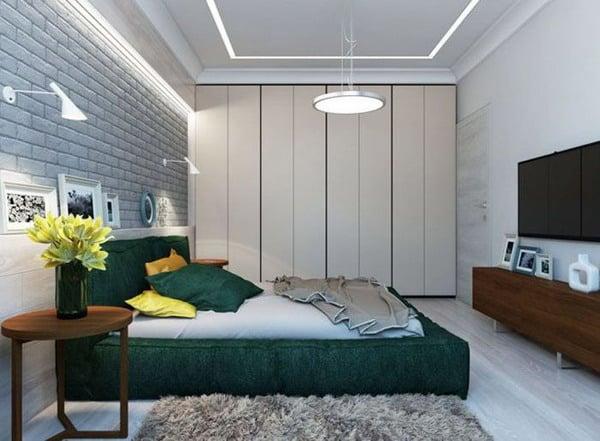 quarto de casal com verde