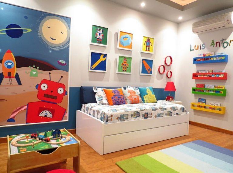quarto infantil colorida