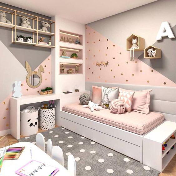 quarto infantil com rosa