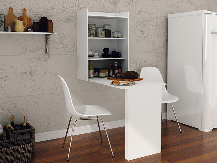 armário que se transforma em mesa